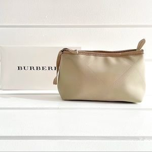 Burberry Tan Limited Edition Cosmetics Case Bag